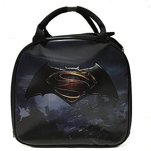 DC Comics Batman VS Superman Insulated Lunch Bag w/ Water Bottle (LOGO)