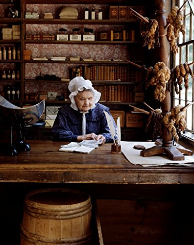 18 x 24 Art Canvas Print of Costumed clerk at the restored general store at Old Sturbridge Village Massachusetts r66 [between 1980 and 2006] by Highsmith, Carol M.