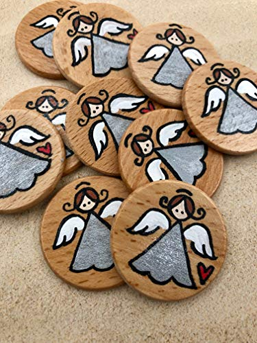 Bag of 10 Pocket Guardian Angel Mini Tokens ()