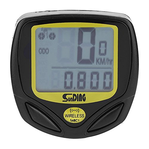VGEBY Bike Computer, Waterproof Bicycle Speedometer with Wireless Transmitter, Bike Computer Holder Mount, Magnetic Sensor, Straps by VGEBY