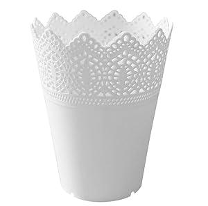 yssabout Solide Couleur Pot de Fleur Plante Vase Décoration de la Maison (Blanc)