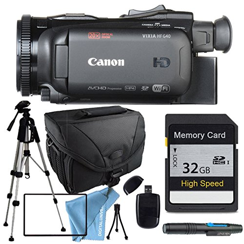 Canon VIXIA HF G40 HFG40 with Tripod, 32GB SD Class 10 Memory Card, Camera Case, USB Card Reader & More by DIGITALUNIVERSE