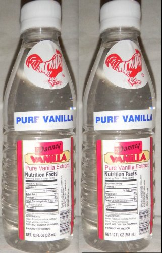2 X Danncy Clear Pure Mexican Vanilla Extract From Mexico 12oz Each 2 Plastic Bottle Lot Sealed