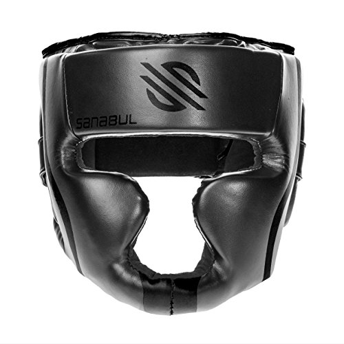 Sanabul Essential MMA Boxing Kickboxing Head Gear (Black, L/XL)