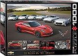 1000 piece puzzles corvette - EuroGraphics 2014 Corvette Singray: It Runs in the Family Jigsaw Puzzle (1000-Piece)