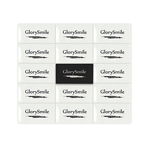 GlorySmile Teeth Whitening Coconut Charcoal Strips - 30 Minute Fast Results - Natural Activated Charcoal Makes Bright Smile Instantly - Includes 14 Sachets