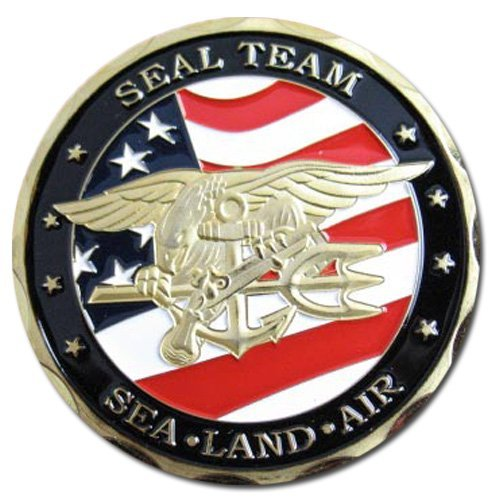 U.S Navy SEAL TEAM 24KT GP Challenge Coin 71#
