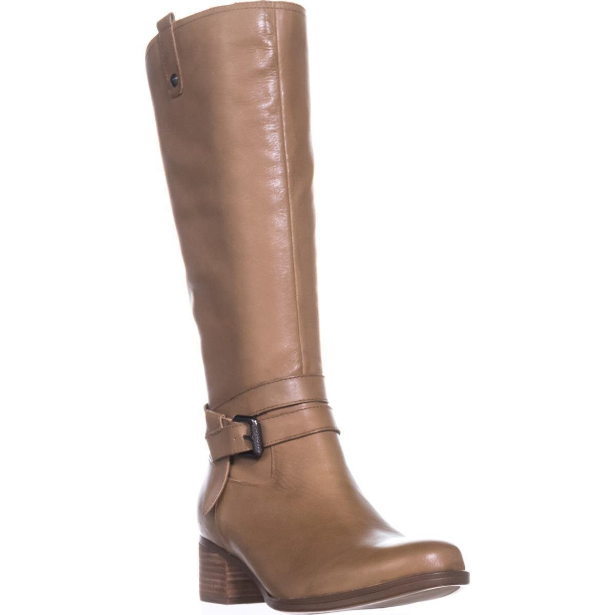 Naturalizer Women's Dev Riding Boot B073WZPZGM 9.5 C/D US|Oatmeal Leather
