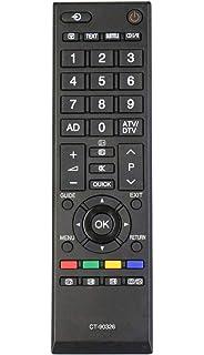 Reemplazo mando a distancia para Toshiba CT-90326 TV TV con control remoto/Nueva: Amazon.es: Electrónica