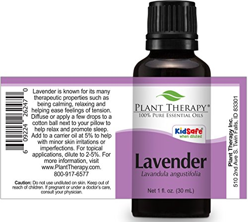 Plant Therapy Lavender Essential Oil. 100% Pure, Undiluted, Therapeutic Grade. 30 ml (1 oz). by Plant Therapy (Image #1)