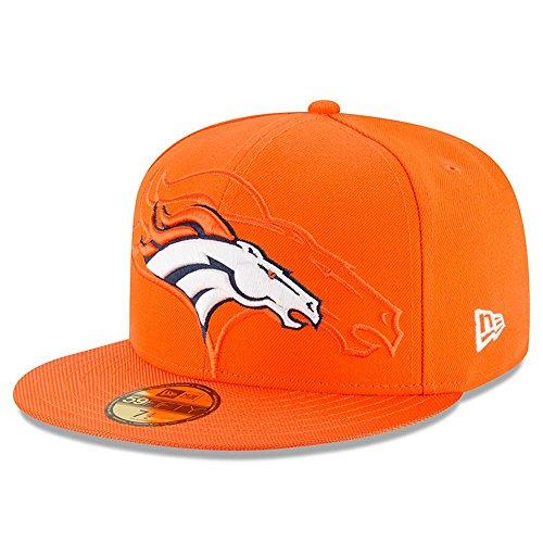 New Era Nfl Sideline 59Fifty Denbro Otc - Casquette ligne Denver Broncos pour Homme, couleur Orange, taille 7 3/4