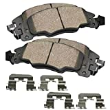 #8: Detroit Axle - Front Ceramic Brake Pads w/Hardware for 2005-2012 Ford F250 Super Duty - 2005-2012 Ford F350 Super Duty