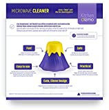 KItchen Gizmo, Eruption Disruption Microwave Cleaner - Clean In Minutes With This Fun, Erupting Volcano. (Purple)
