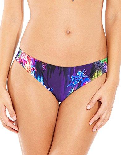 Pour Moi Tiger Lily 16004 Low Rise Bikini Bottoms Black Multi Large - Tigerlily Swimwear