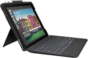 "Logitech Slim Combo Keyboard/Cover Case for 26.7 cm (10.5"") iPad Pro - Black - Spill Resistant"