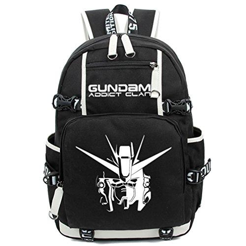 (Gumstyle GUNDAM Luminous Backpack Anime Book Bag Casual School Bag)