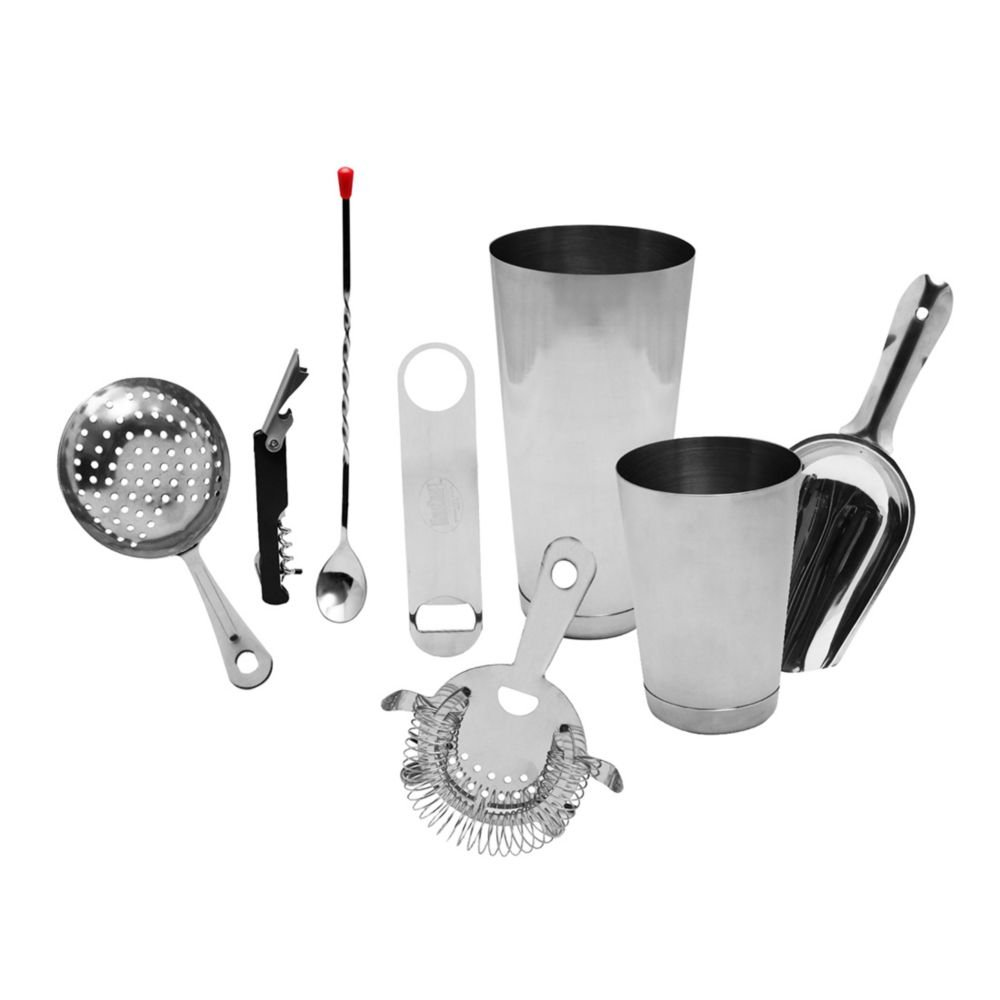TableCraft Products BARKIT1 S/S 8-Piece Essential Cocktail Kit