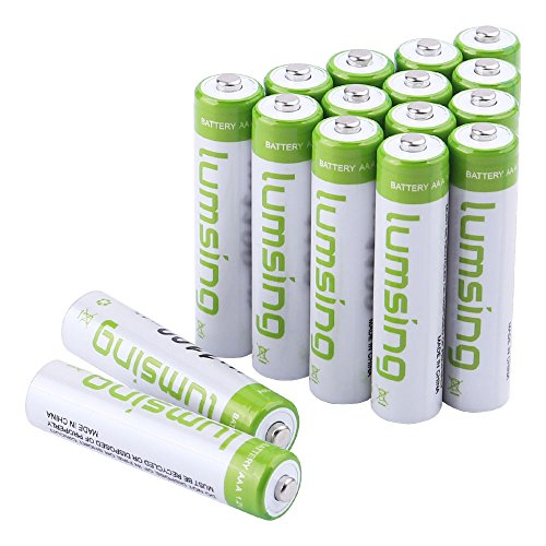 Rechargeable AAA Batteries(16-Counts) Pre-charged AAA 1100mAh Ni-MH Batteries