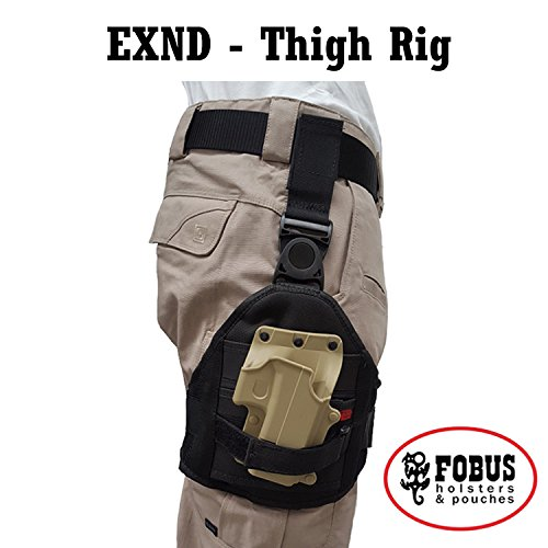 Drop Leg Extension Cordura Thigh rig for all Fobus Paddle Holsters & Pouches - EXND Fobus + Best Security Gear Magnet