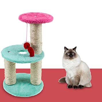 Yimosecoxiang Cat Tree House Scratch Toy Mouse Scratchers Pet Kitten Jumping Climbing Frame Random Color