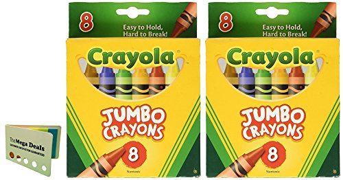 (Crayons Jumbo 8ct Peggable Tuck Box [Set of 2] Includes 5 Color Flag Set)