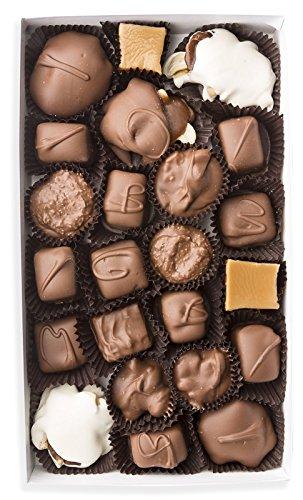 Mrs. Cavanaugh's Famous Nuts and Chews | Toffee Caramel Candy Gift Box w/Milk & Dark Chocolate | 1 lb Mixed Milk & Dark Chocolate