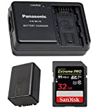 Panasonic PVT-19 Camcorder Battery & Charger w/SanDisk Extreme PRO 32GB SD Card