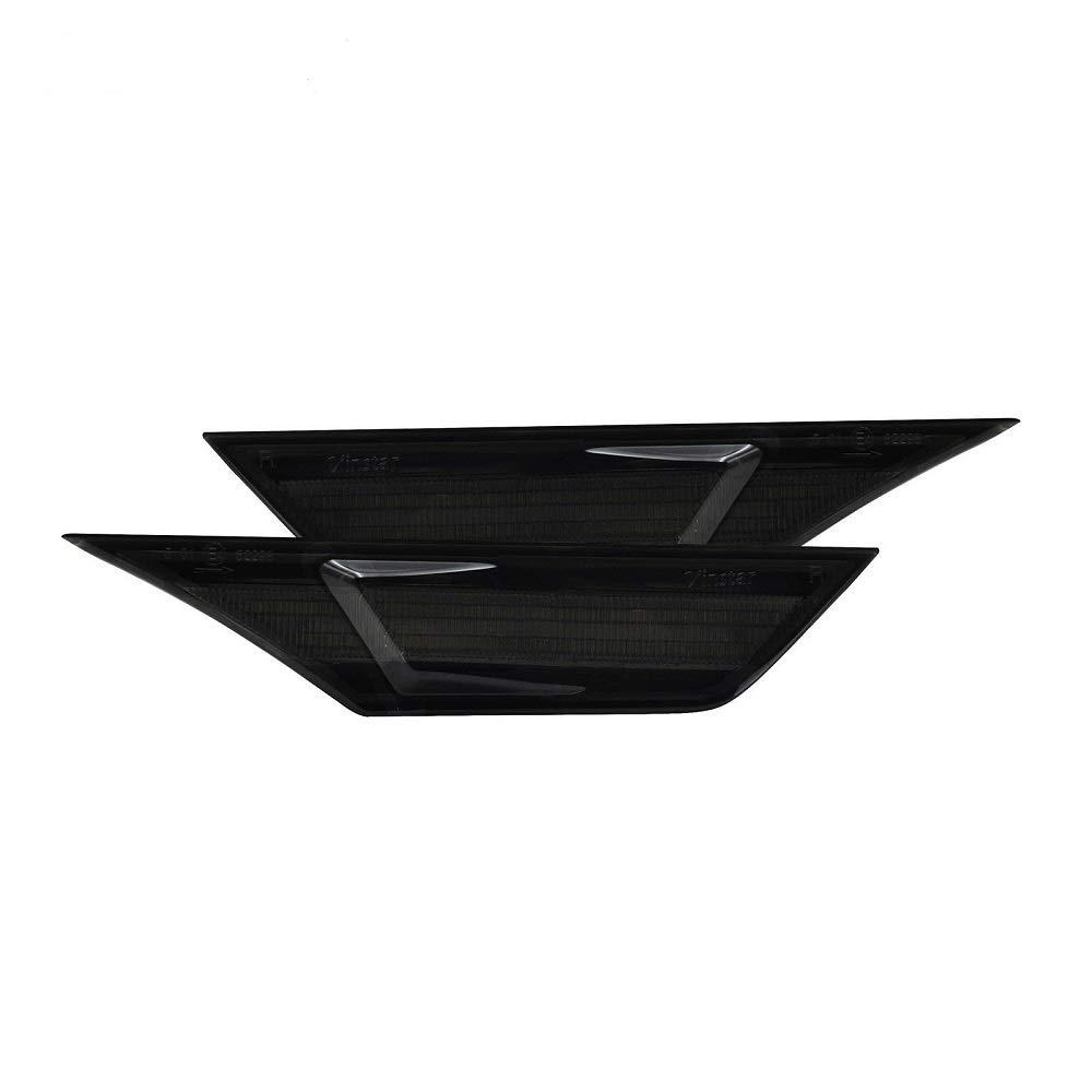 con 2 lampadine T10 colore bianco//ambra Luci di direzione anteriori a LED per parafanghi laterali lenti fum/é per modelli Civic Coup/é 2016-2018
