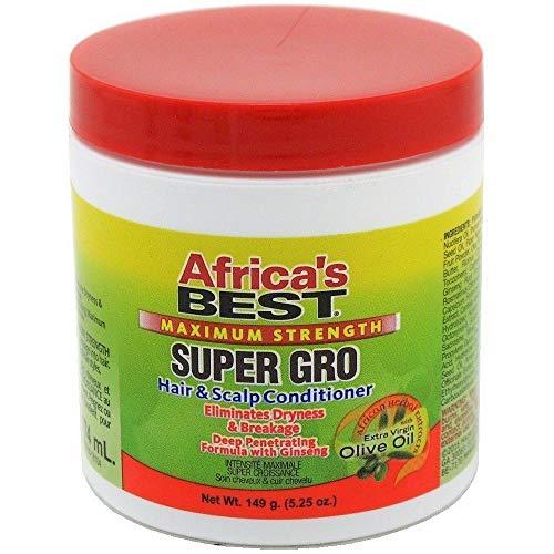 Africa's Best Maximum Strength Super Gro Hair & Scalp Conditioner, 5.25 oz (Pack of 2)