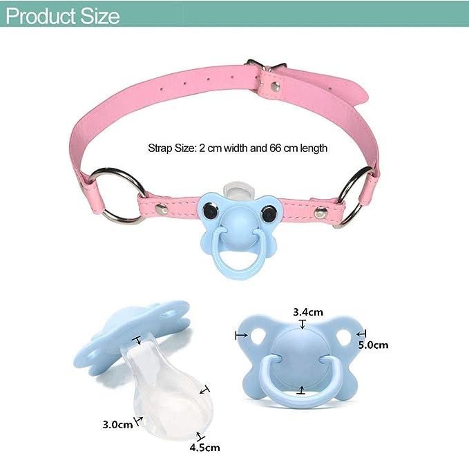 Amazon.com: DDLG/ABDL - Chupete para bebé con gargantilla ...