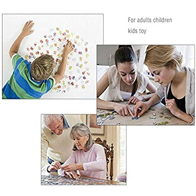 1000 Piece Jigsaw Puzzle for Adults & Kids - Beautiful Forest House Painting Landscape Educational Assembling Toys - Developing Fine Motor Skills & Shape Sorting - Gift for Birthday & Mother's Day: Toys & Games