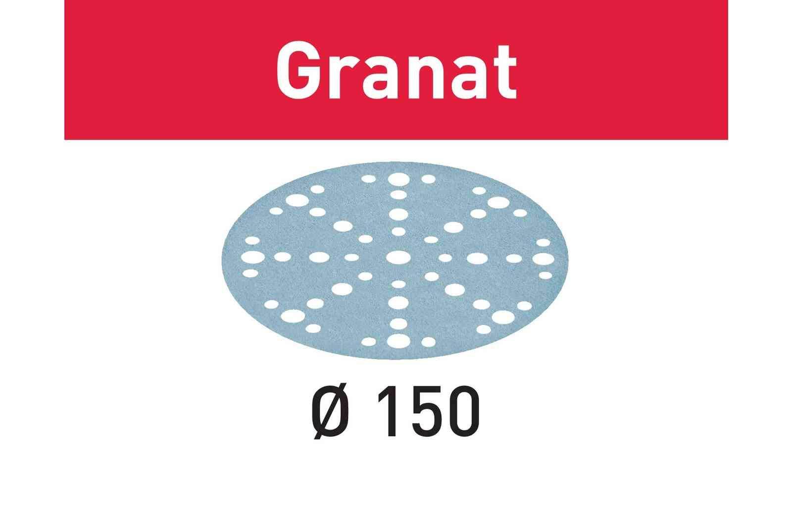 Festool 575161 60 Grit GRANAT For 6'' Sander, 50X