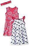 Hudson Baby Baby Girls' 3 Piece Dress and Headband Set, Tropical, 12-18 Months (18M)