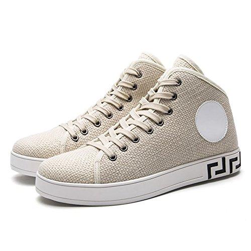 Tacco da per Cricket Uomo Moda Scarpe Piatto Scarpe con Ginnastica Cream Sneaker colored da vEnXS