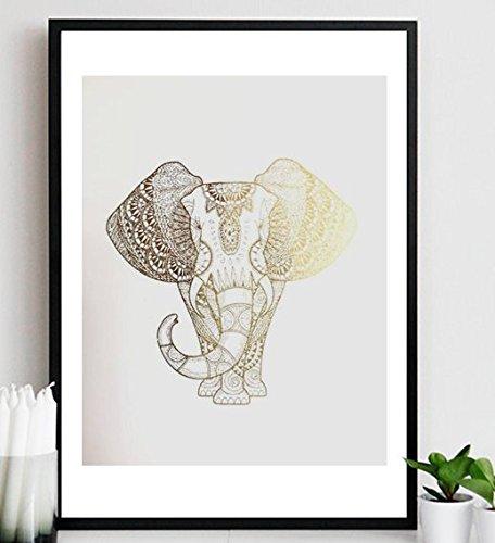 Kupfer Elefant Poster Gold Silber o