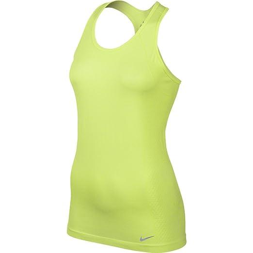 c635bd0adbfb7 Amazon.com: Nike Women's Dri-fit Knit Running Tank Top-Volt- Extra ...