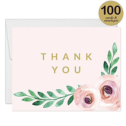 Birthday Party Invitations ( 100 ) & Matched Thank You Notes ( 100 ) Set with Envelopes, Great for Large Celebration Female Girl Young Woman Birthday Fill-in Invites & Blank Thank You Cards Best Value by Digibuddha (Image #5)