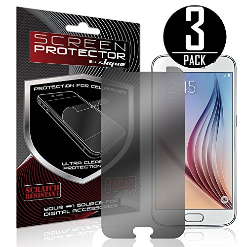 Galaxy S6 Screen Protector,Skque® Privacy Screen Protector for Samsung Galaxy S6 [3 PACK]