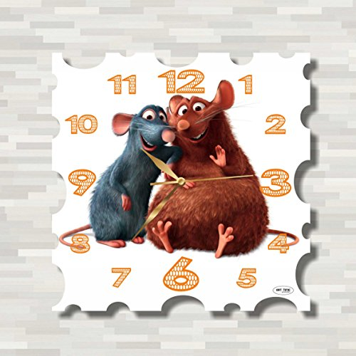 Ratatouille 11'' Handmade MAGIC WALL CLOCK FOR DISNEY FANS made of acrylic glass - Get unique décor for home or office – Best gift ideas for kids, friends, parents and your soul mates