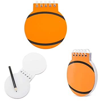 Lote 50 libretas Infantiles Baloncesto-Basket. Original libreta con la Forma de un balón de Basket. Detalles Infantiles para Eventos