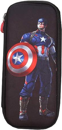 Yyqx Estuche de lápices Grande for niños Estuche de lápices Batman Superman Hero Series Estuche de lápices Capitán América Papelería Estuche de lápices Útiles Escolares Estuche: Amazon.es: Hogar