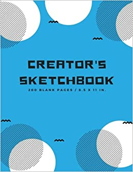 creators sketchbook blank drawing paper for drawing sketching doodling art extra large 200 pages arts and crafts volume 6