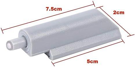 iPobie 10 Pezzi Sistema di Apertura a Pressione,Damper Buffer Smorzatore Push-Open per Chiusura Ammortizzata di Porte,Grigio