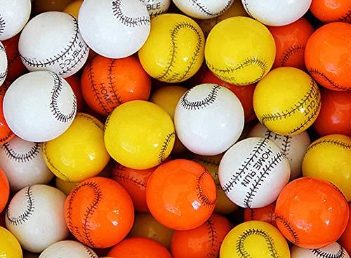 Gumballs for Gumball Machines - Baseball - 1 inch box of 15 lb of 3 color baseball gumballs - Fresh Gumballs for Bulk Vending Machines - Gumball Machine Refills - Fruit Gumballs 25 mm 850 Count