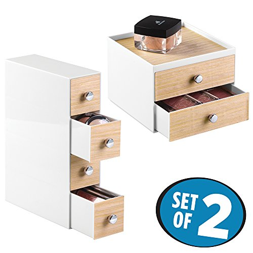 mDesign Cosmetic Organizers Cabinet Products