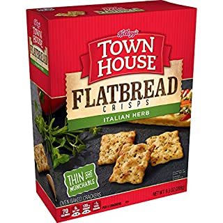 Keebler, Town House Flatbread Crisps, Crackers, Italian Herb, 9.5 oz