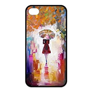 Custom Unique Painting Design Rubber TPU Case Cover For Iphone 4 4S