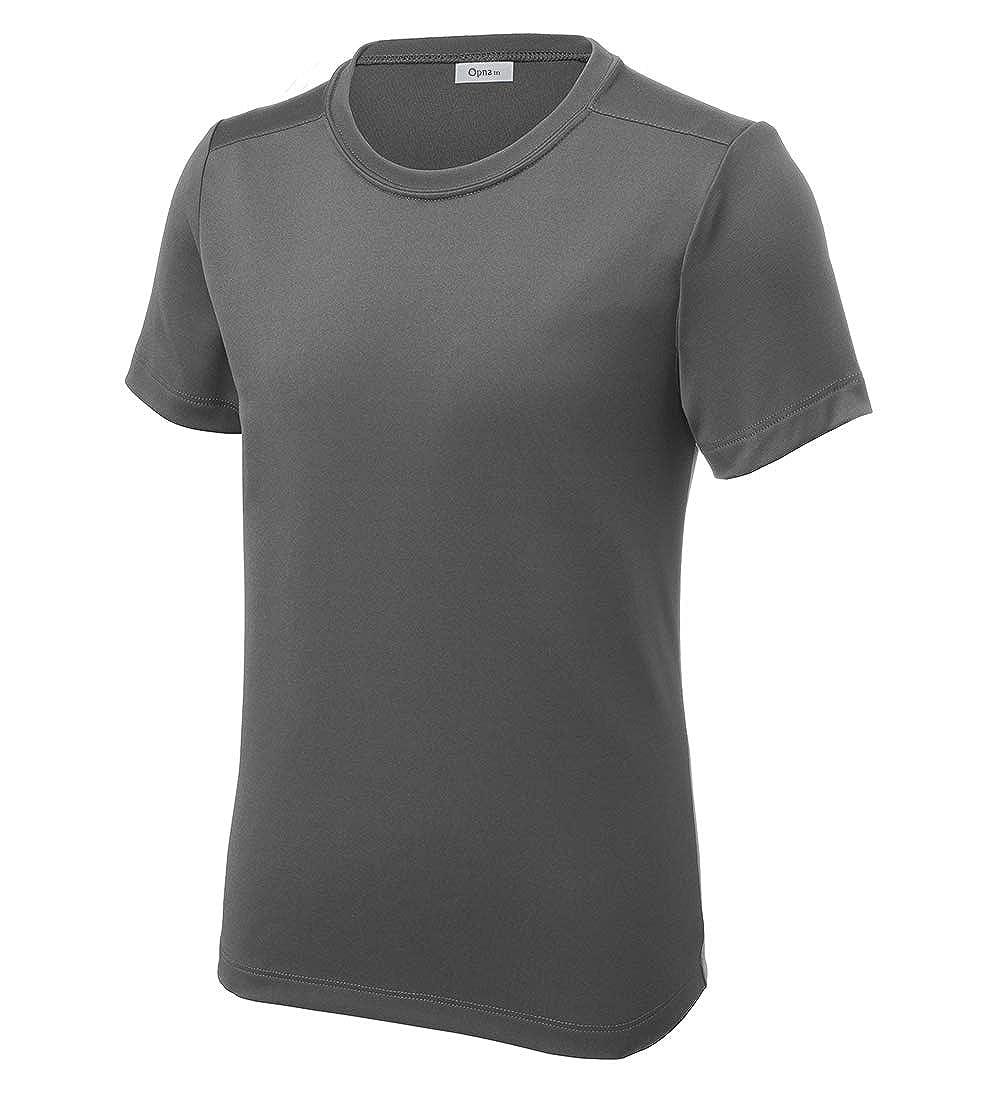 Opna Youth UPF 50+ UV Sun Protection Long or Short Sleeve Boys Girls T-Shirt Athletic Outdoor