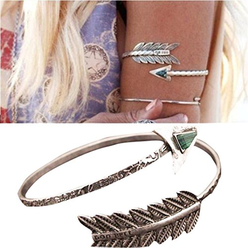 Women Bangle, Franterd Swirl Spiral Armband Arm Cuff Armlet Upper Stone Bracelet Armband (Arm Band Jewelry)