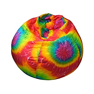Gold Medal Bean Bags Small/Toddler Denim Look Bean Bag with Cargo Pocket, Tie Dye